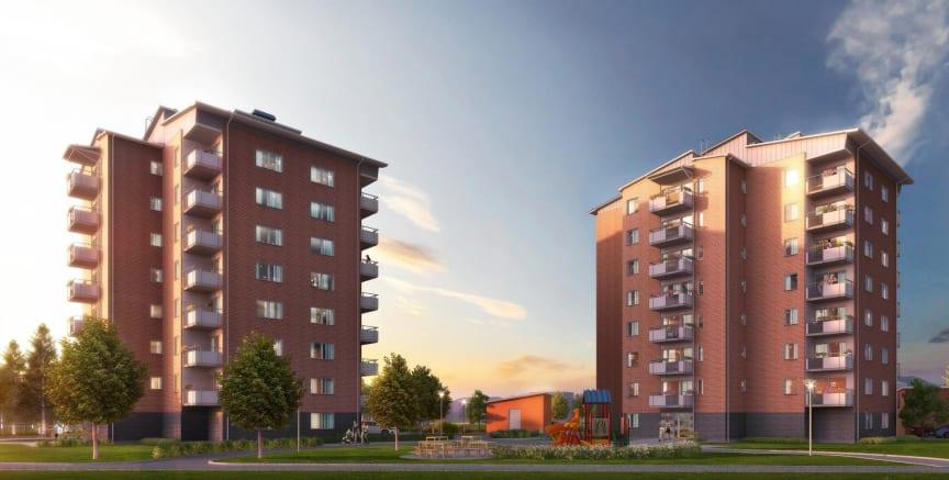 Brf Riddaren, Berga Park, Riksbyggen, Linköping