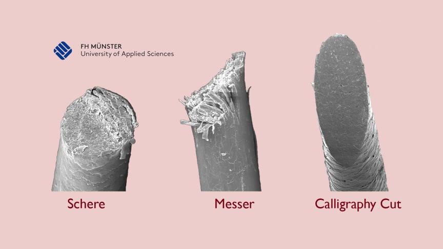 Fotocollage Unterschied Messer - Schere - calligraphy cut®