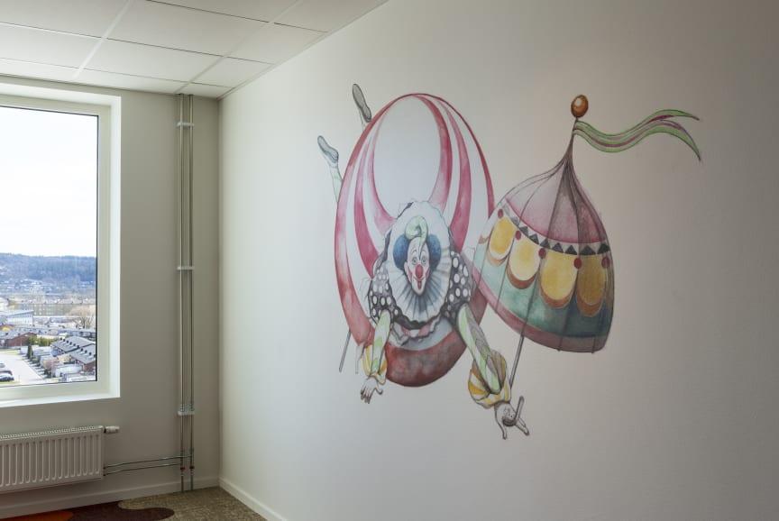 Illustration i rum hos Åby Hotel