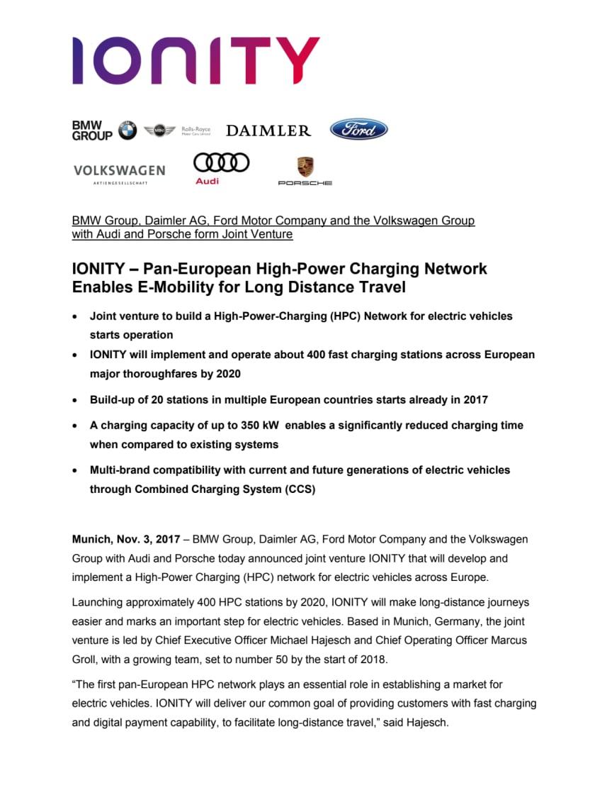 Paneuropæisk samarbejde skal give mulighed for lange rejser i elbiler