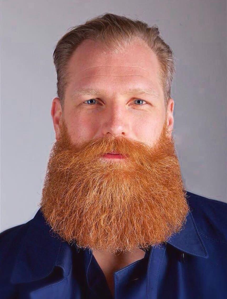 Domare Johan Arkert, vinnare av Spånga Beard Party 2017