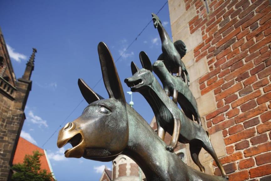 Bremen, monument for Bremer Stadtmusikanten