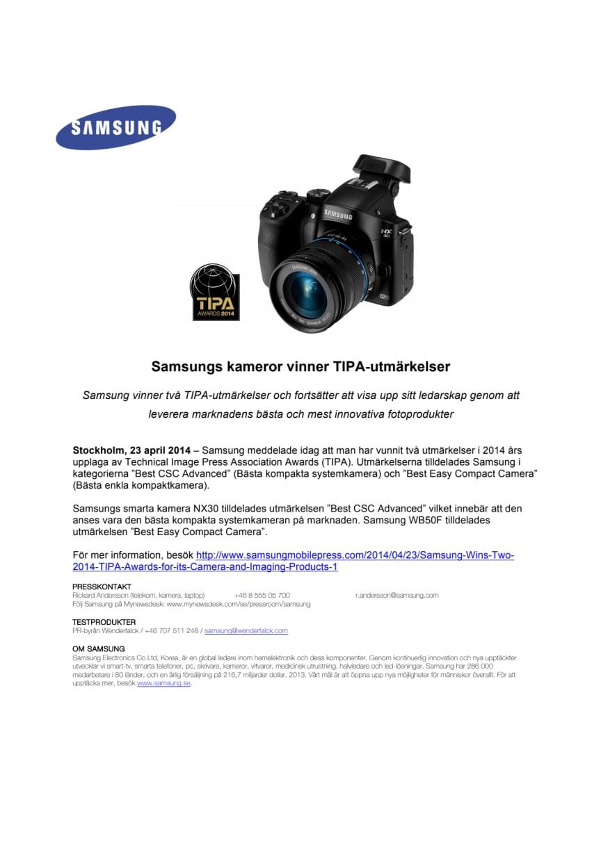 Samsungs kameror vinner TIPA-utmärkelser
