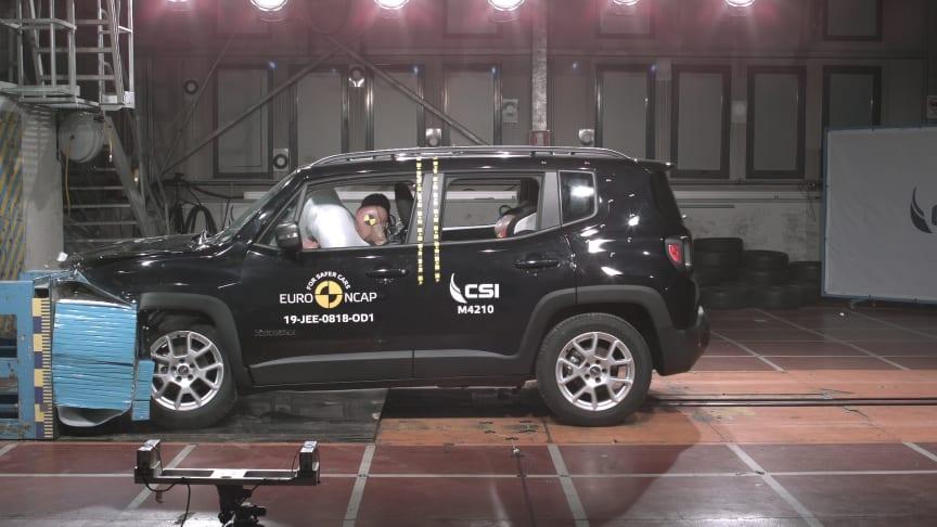 Jeep Renegade frontal offset impact Dec 2019