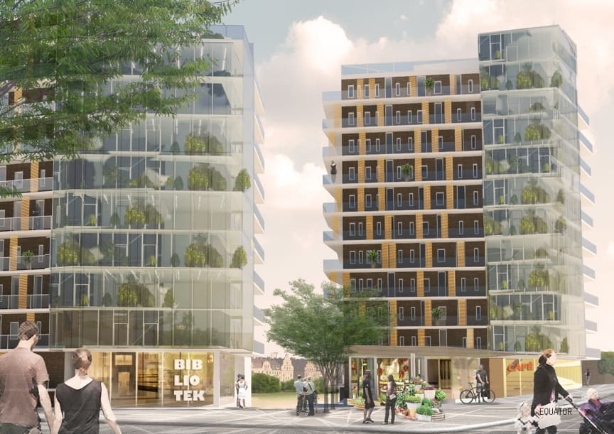 One More Block Arkitektkontor: Equator Stockholm / Mojang (Minecraft)