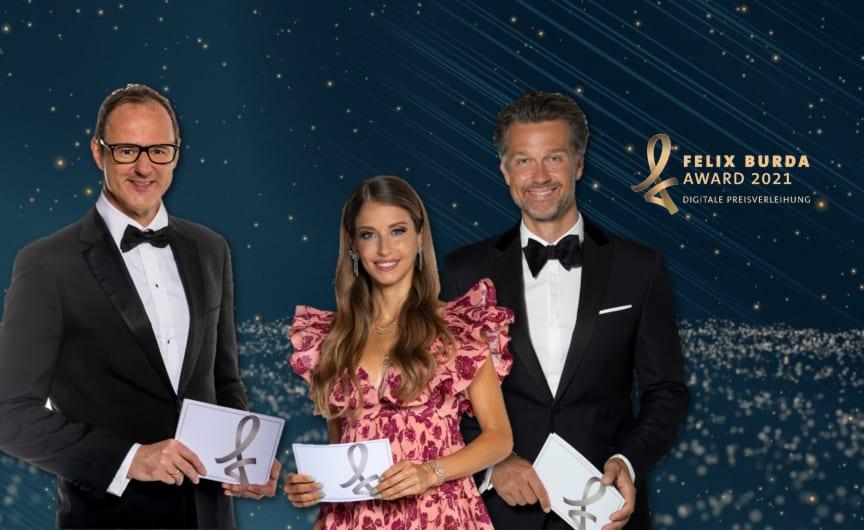 Felix Burda Award 2021 mit Cathy Hummels, Wayne Carpendale und Vince Ebert