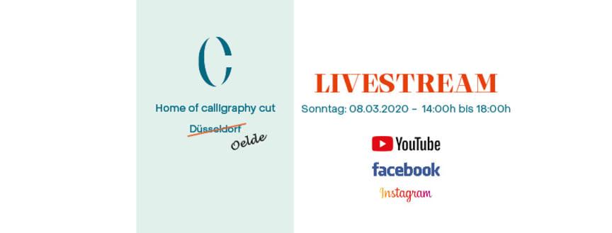 Calligraphy Cut-Livestreaming März 2020