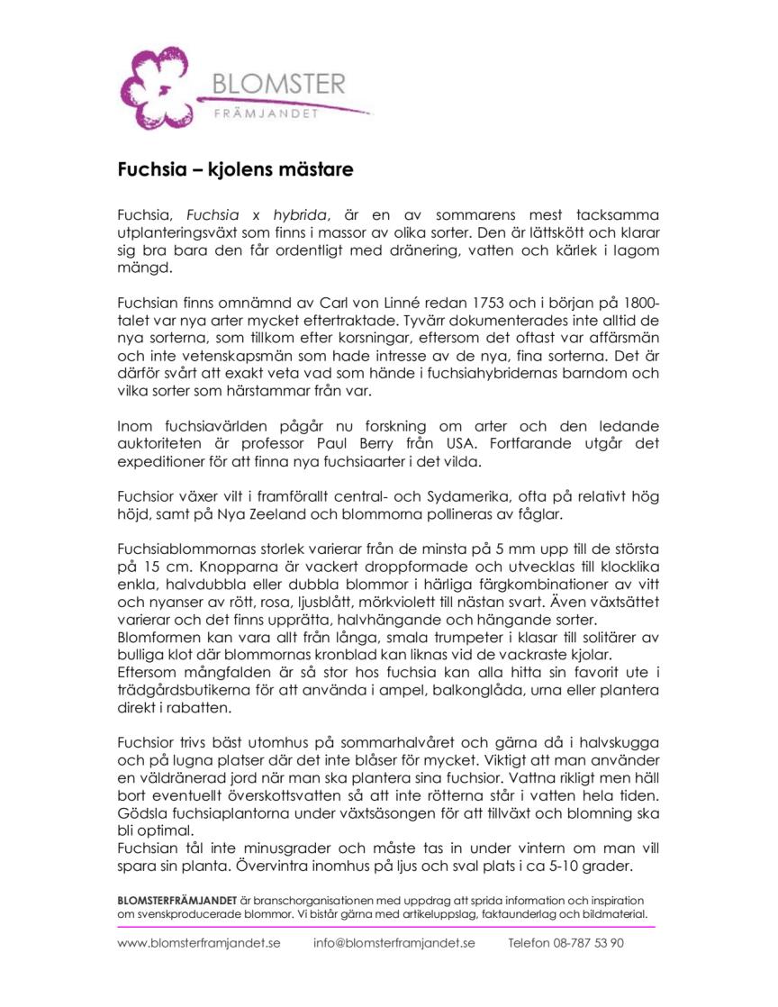 Fuchsia – kjolens mästare