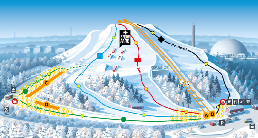 Piste map Hammarbybacken