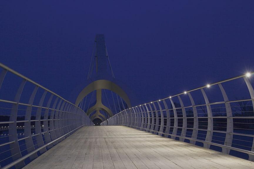 Belysning på Sölvesborgsbron bild 2. Tiff-format