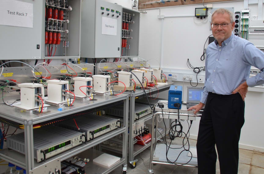 Danish Power Systems' CEO Hans Aage Hjuler at MEA test stations