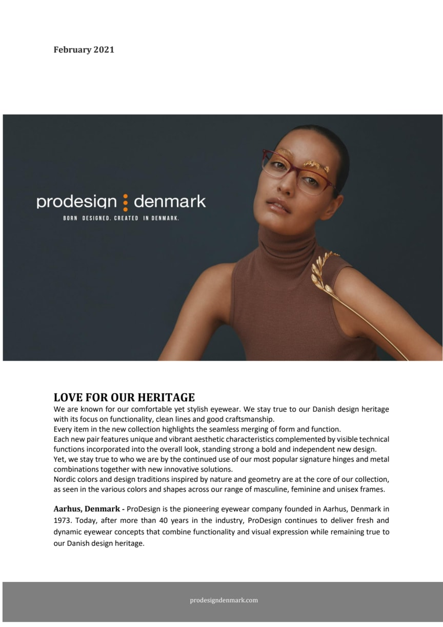 ProDesign, Nordic colors and design traditions