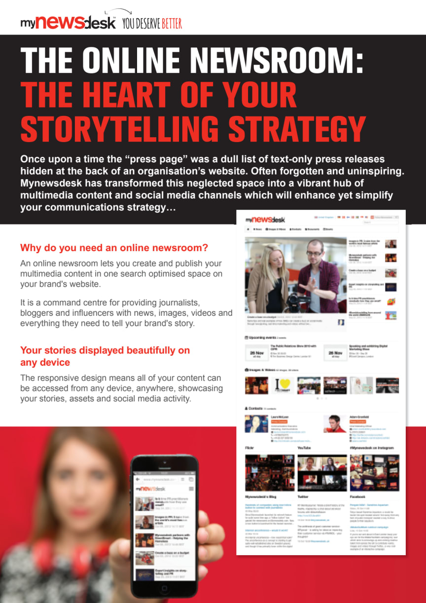The online newsroom the heart of your storytelling strategy ...