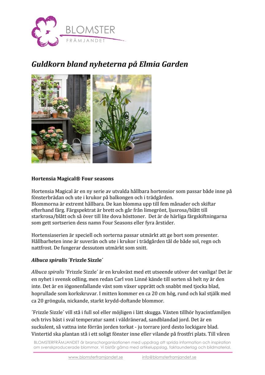 Guldkorn bland nyheterna på Elmia Garden
