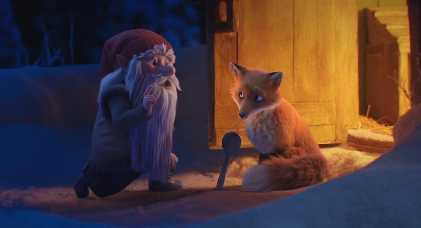 Räven och Tomten, stillbild ur kortfilm