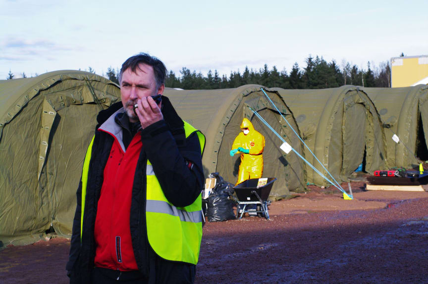 Insatschef Robert ter Horst vid fågelinfluensadrabbad gård Mönsterås kommun
