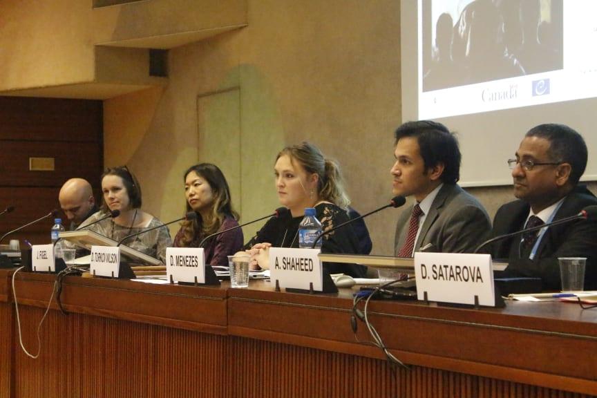 En kunnig panel diskuterade hur media och film kan främja religions- och övertygelsefrihet