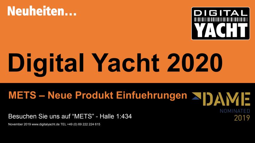 """Digital Yacht auf der """"METS"""" mit """"Dame"""" -Nominierung und neuen Produkten!"""