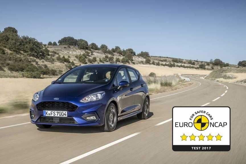 Ford FIesta fem stjerner Euro NCAP