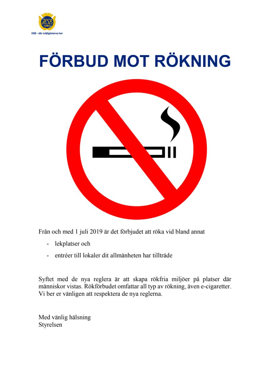 Så påverkar de nya reglerna om rökfria zoner er bostadsrättsförening