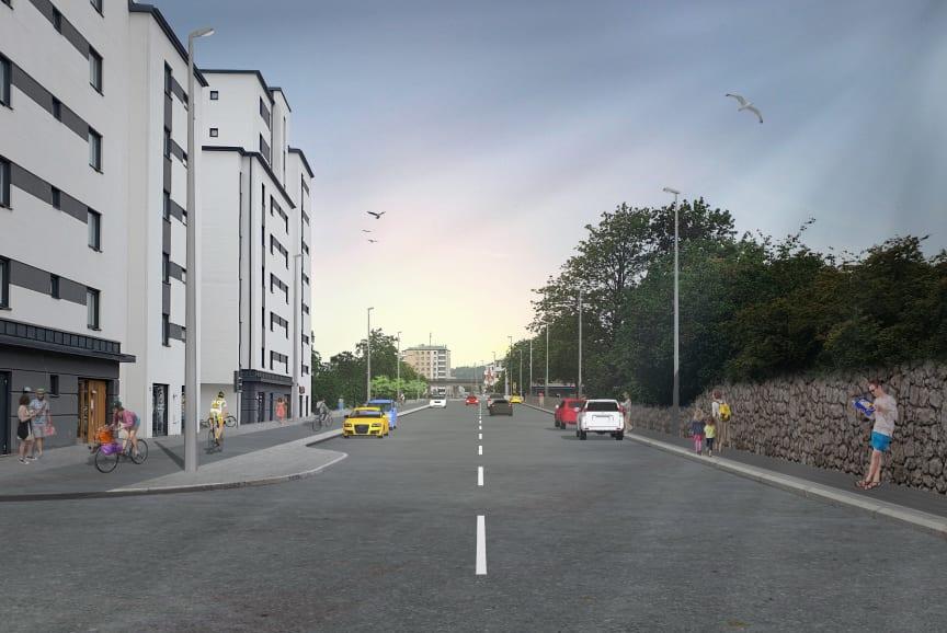 Visionsbild Helsingborg kv Böljan