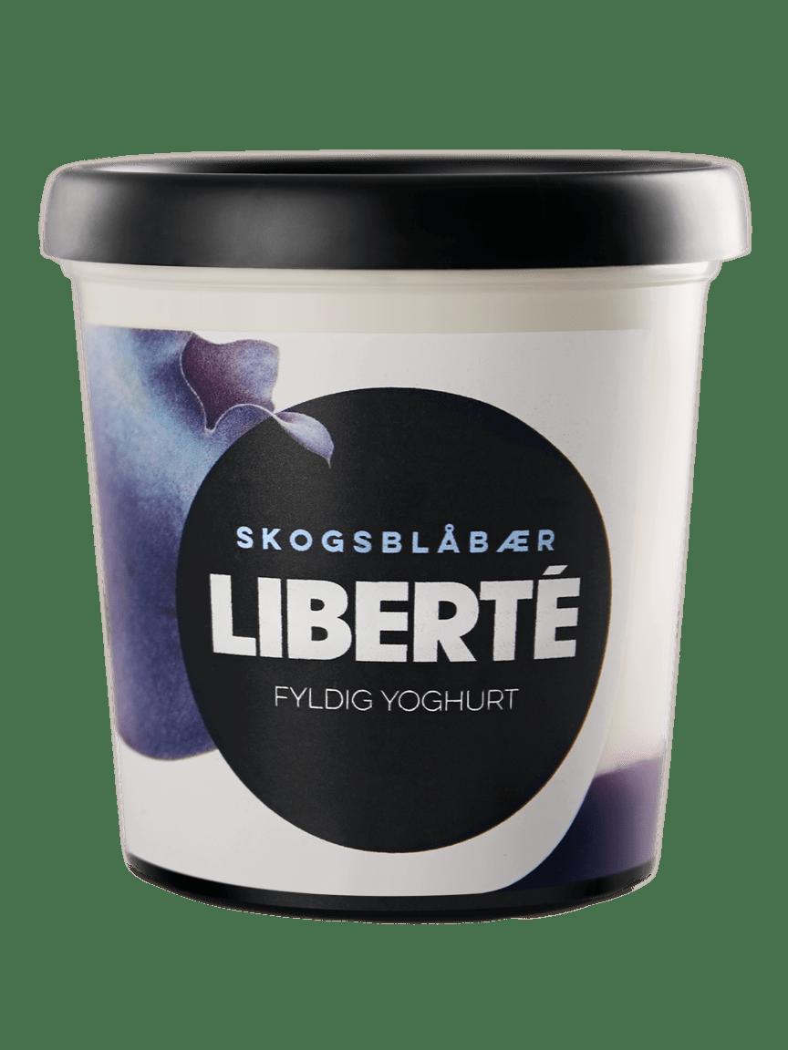 Liberté yoghurt Skosgblåbær 400 g png