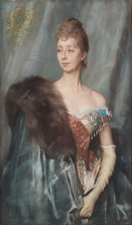Albert Edelfelt, Studie till Porträtt av Prinsessan Marie Amélie