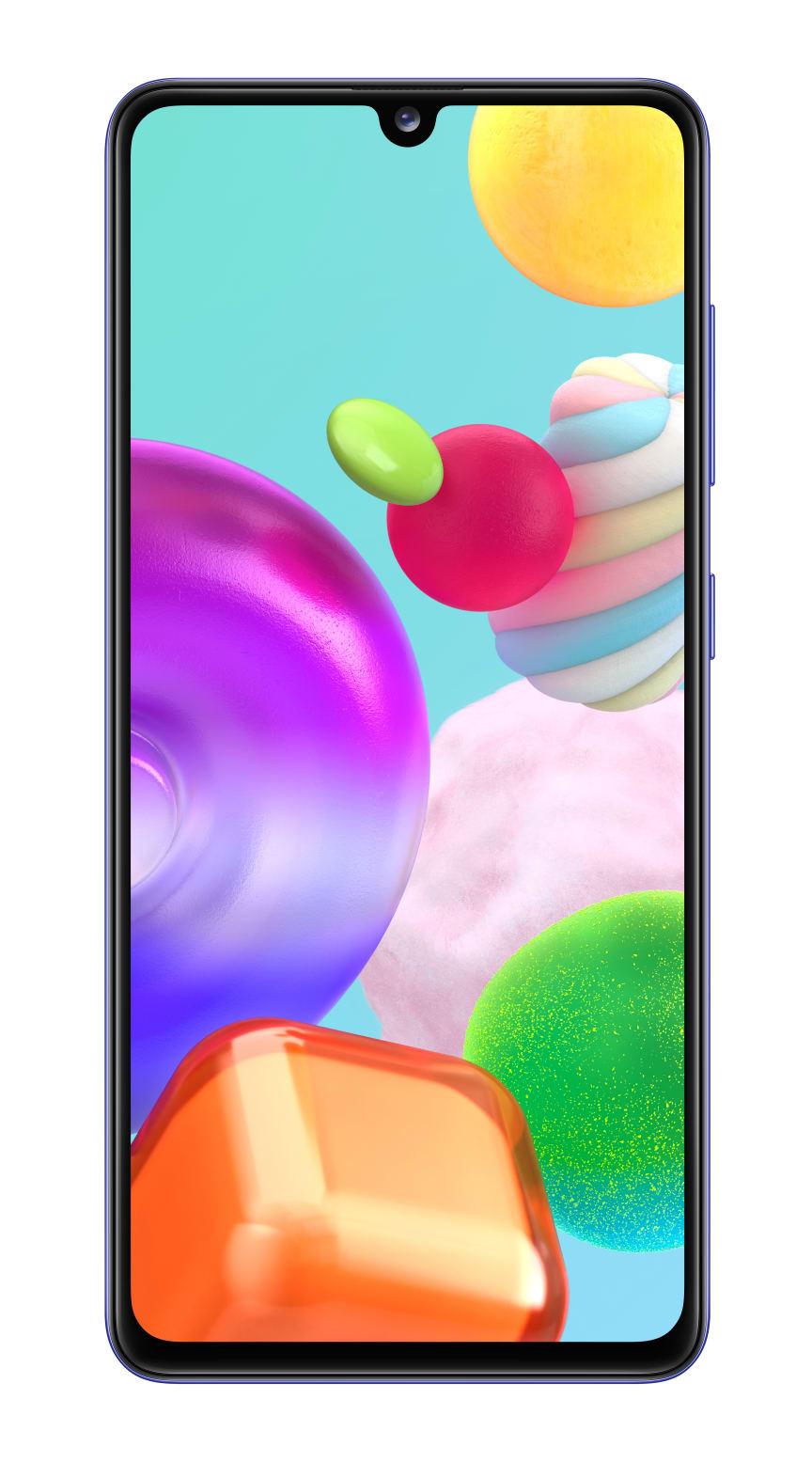 10_Samsung Galaxy A41_prism_crush_blue_front