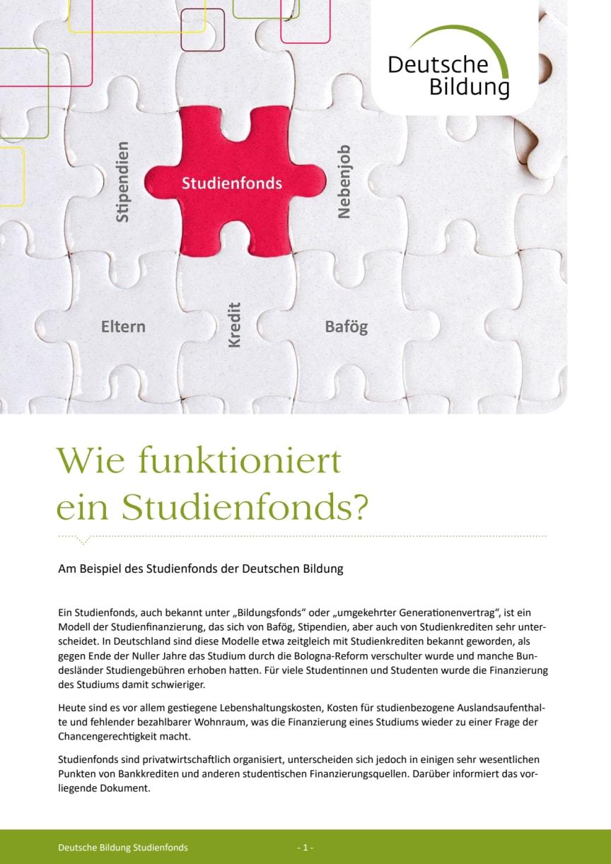 Whitepaper: Wie funktioniert ein Studienfonds?