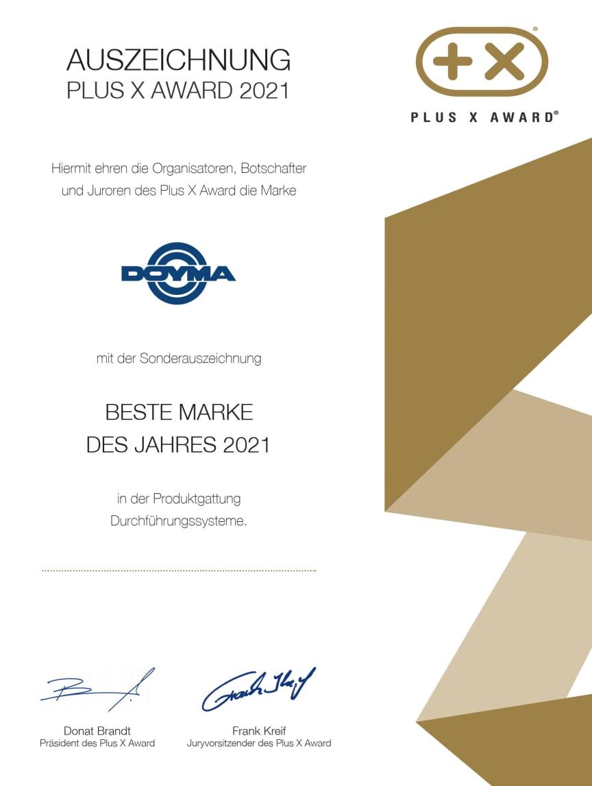 Beste Marke 2021 Zertifikat