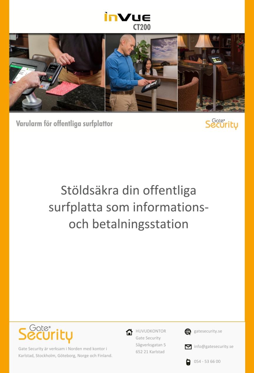 Stöldsäkra din offentliga surfplatta som informations- och betalningsstation