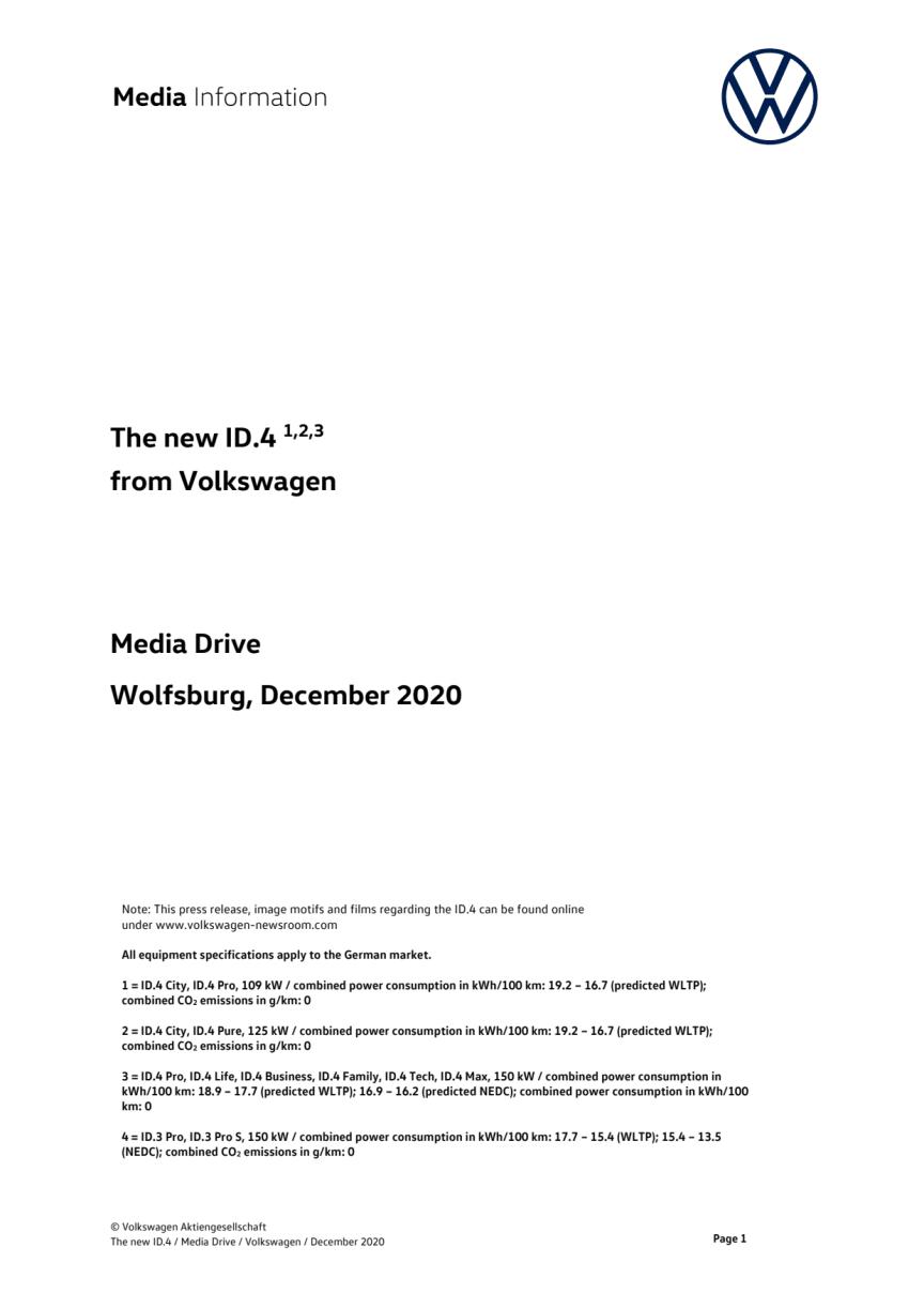 Pressetekst - ID.4 - engelsk sprog