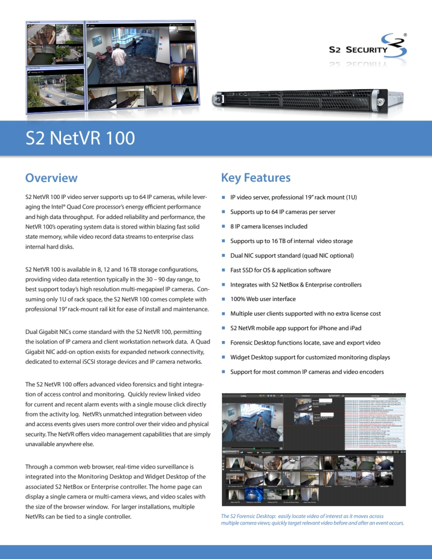Passersystem från Gate Security - S2 NetVR 100
