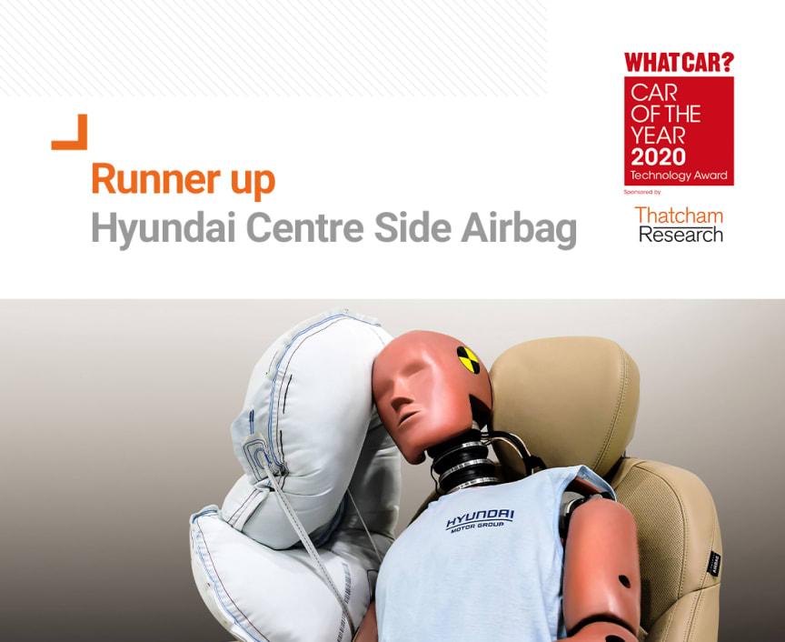What Car? Technology Award 2020 runner up - Hyundai Centre Side Airbag