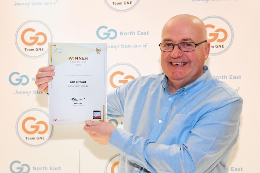 Winner of the Charity Star award, Ian Proud