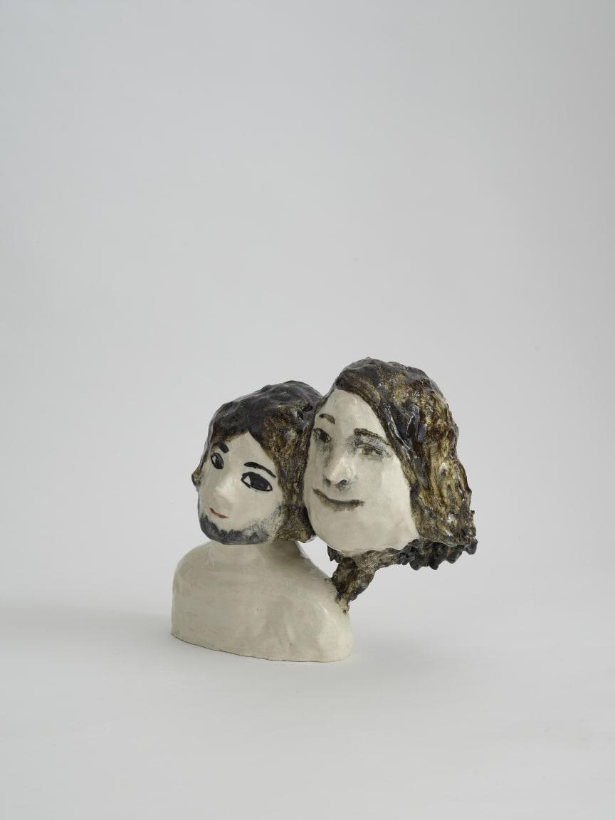 Klara Kristalova, Boy and his big fat mother, 2009. Glazed stoneware.  Courtesy of Alison Jacques Gallery