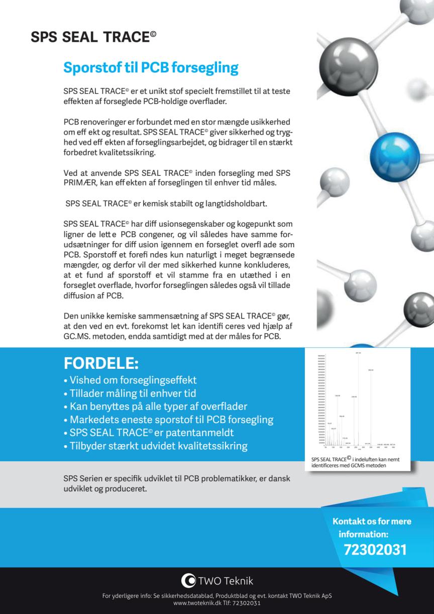 Produktblad SPS Seal Trace Sporstof til PCB forseglinger