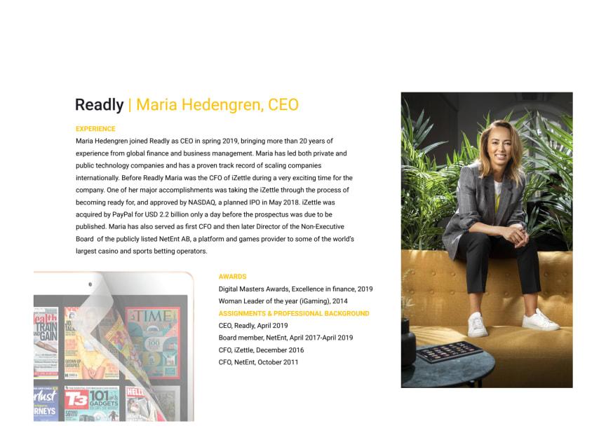 Maria Hedengren_CEO_Readly_Biography