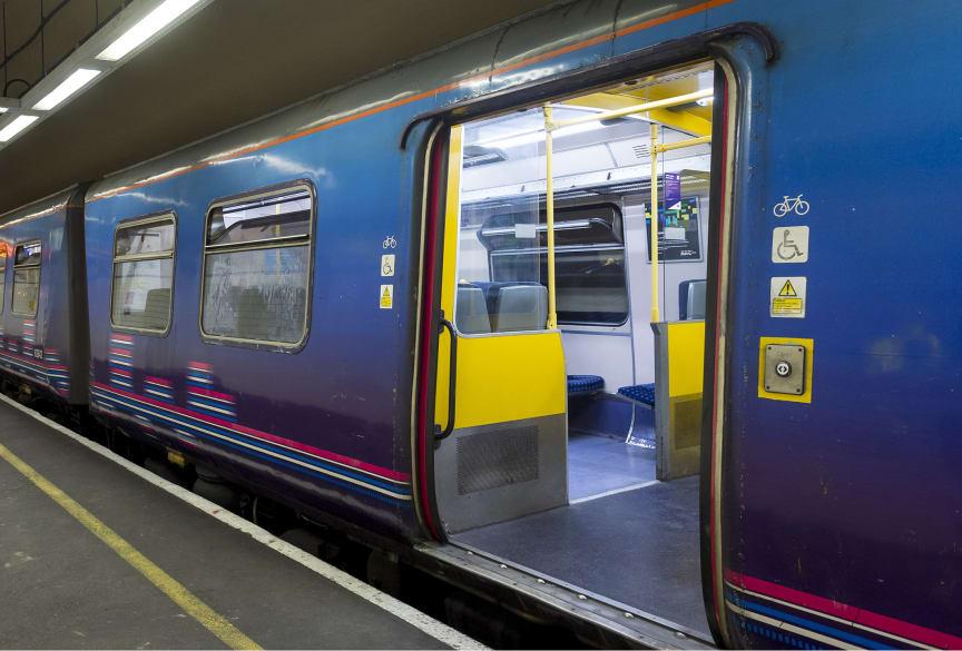 Old Moorgate train - passenger door