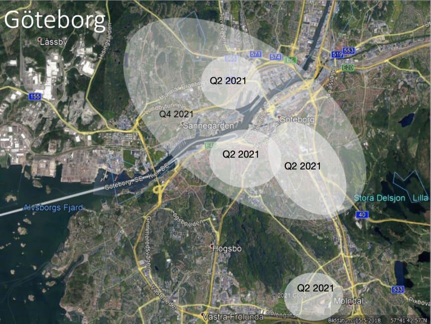 5G-utrullning Göteborg