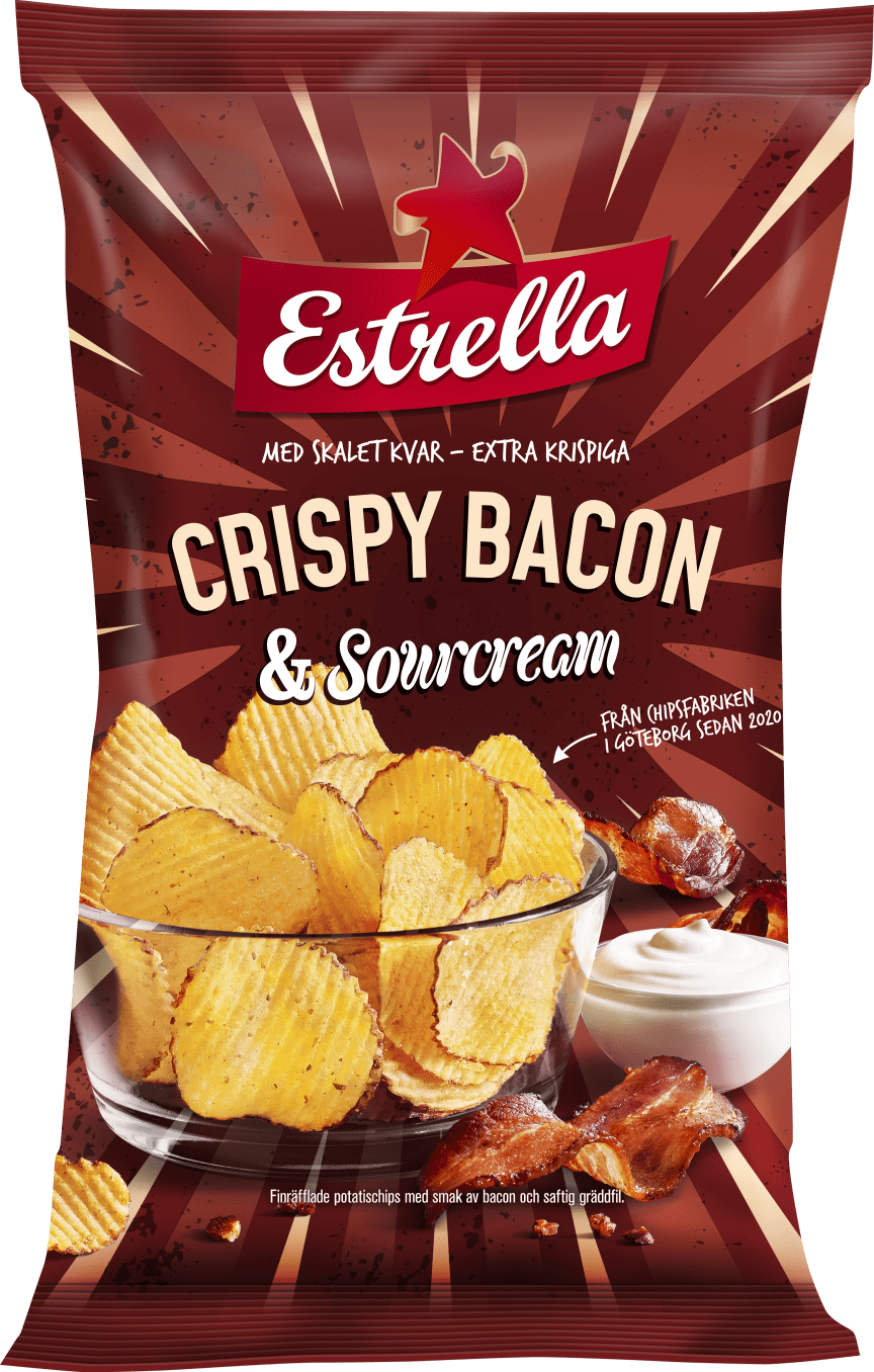 Crispy Bacon & Sourcream från Estrella, nyhet vecka 4 2020