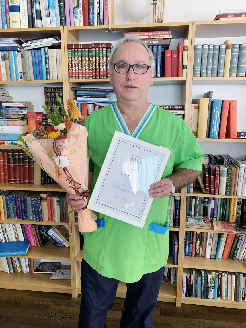 Edwin Szolc förtjänstdiplom Solna 2019