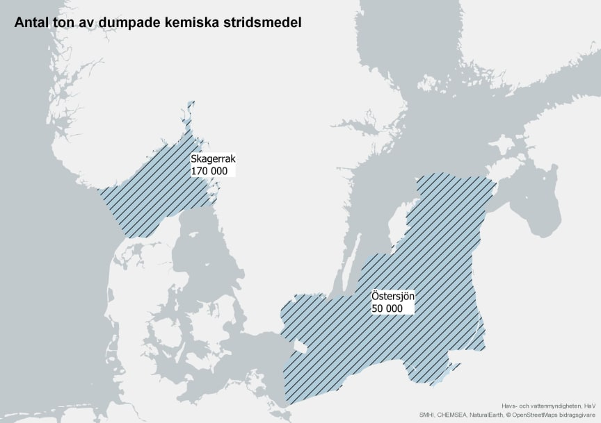 Dumpade stridsmedel i havsområden