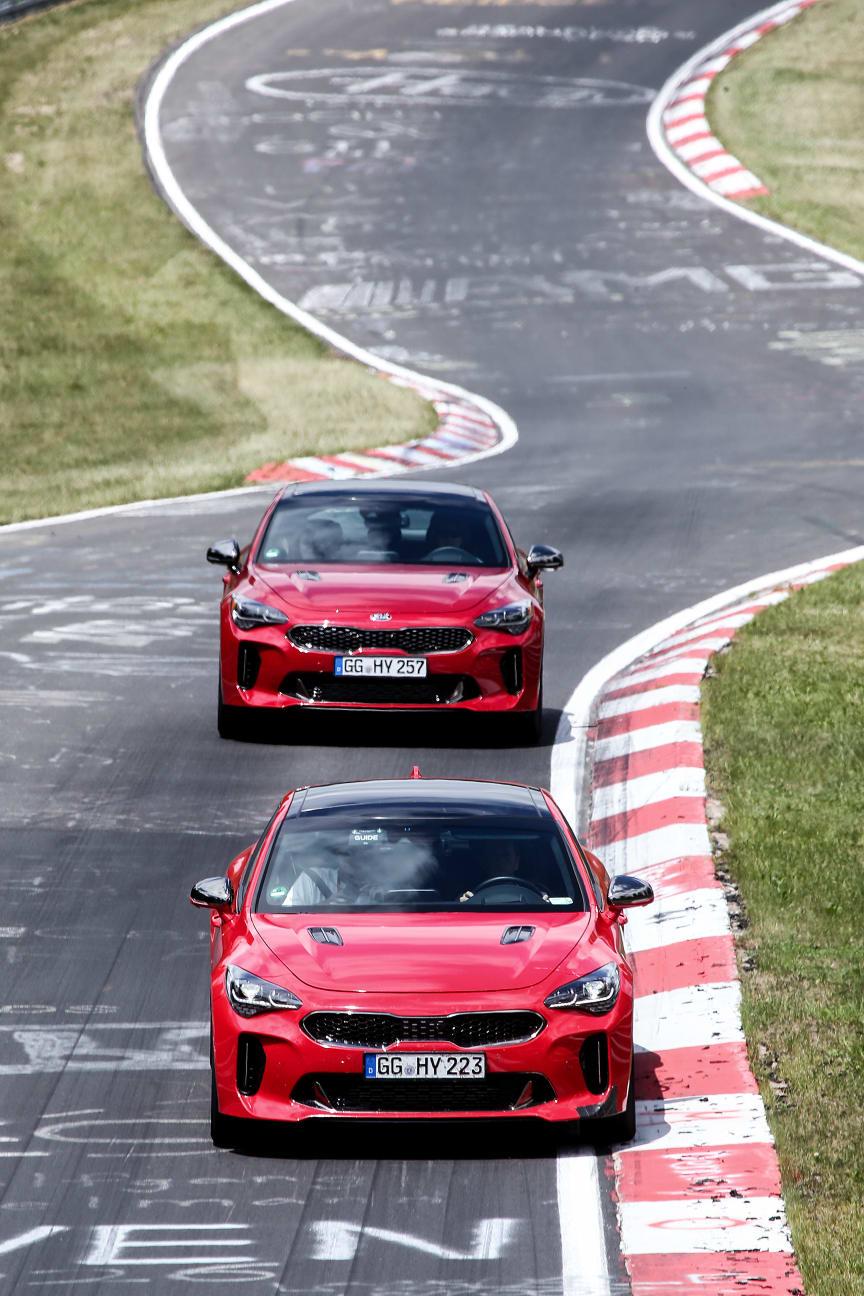 KIA Stinger testing at Nurburgring