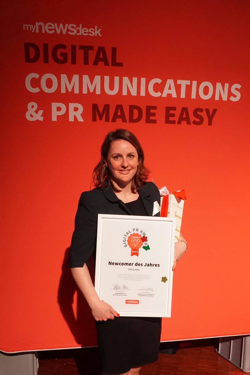 """Verleihung des Digital PR Award in der Rubrik """"Newcomer des Jahres"""" - 4"""