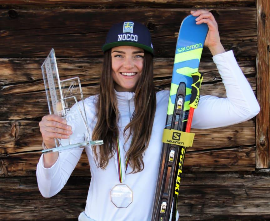 Skicrossåkaren Alexandra Edebo