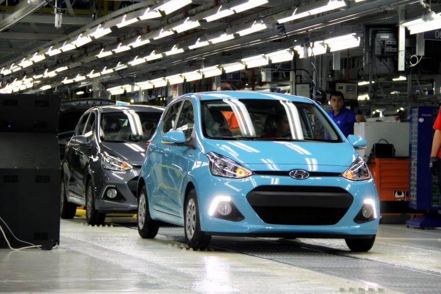 Første nye i10 ruller ut fra Hyundais fabrikk i Tyrkia