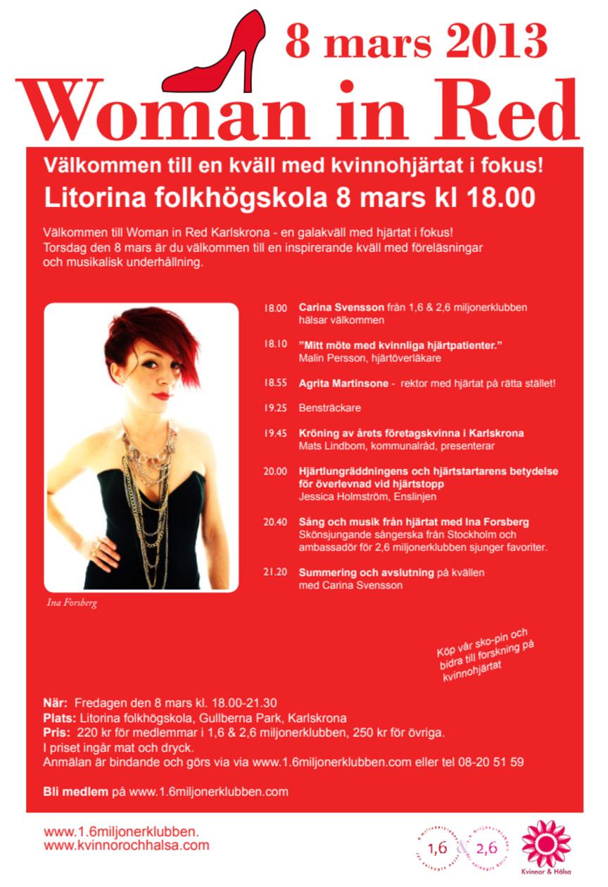 Woman in Red i Karlskrona – en kväll med kvinnohjärtat i fokus!