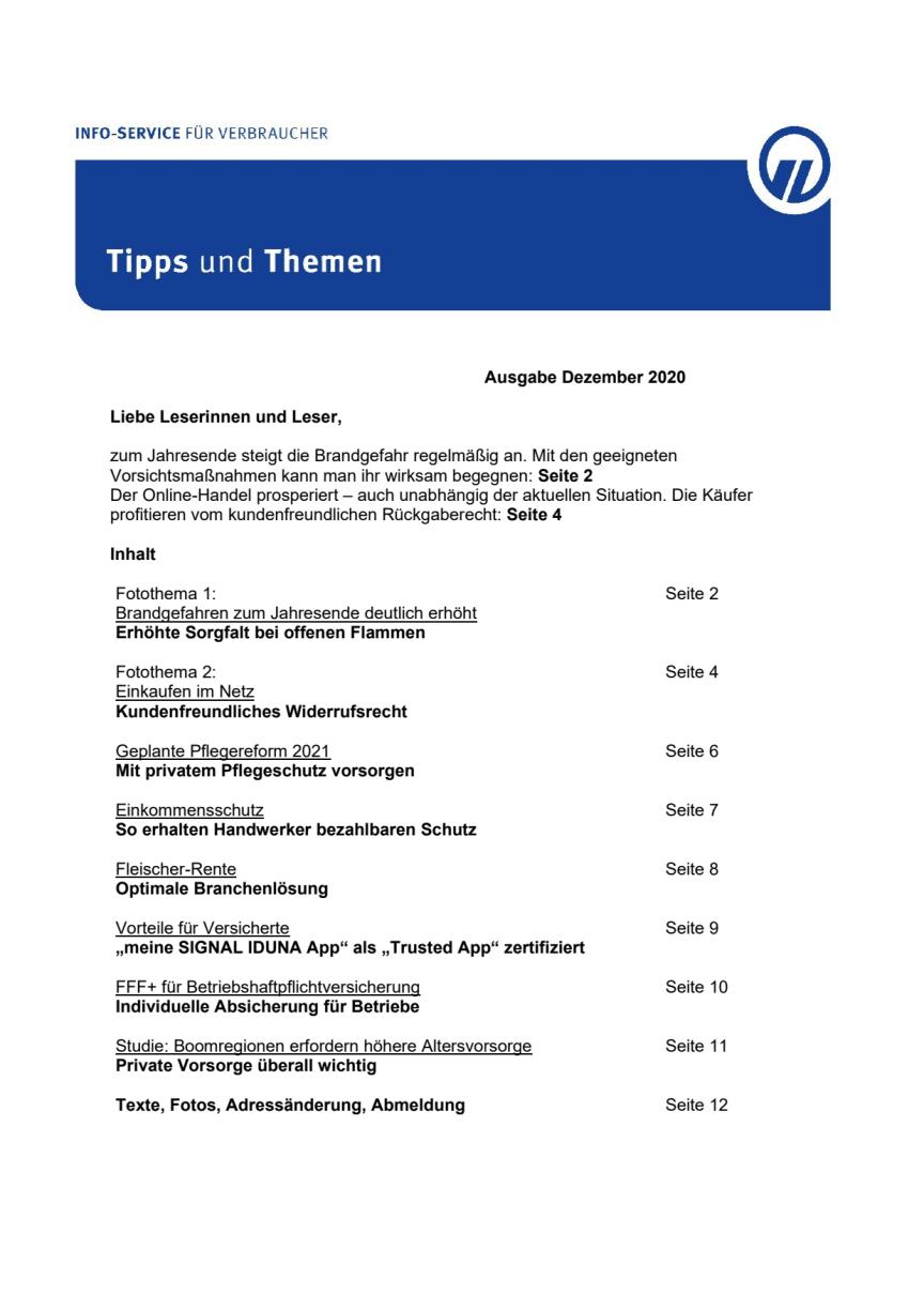 Tipps und Themen 12-2020