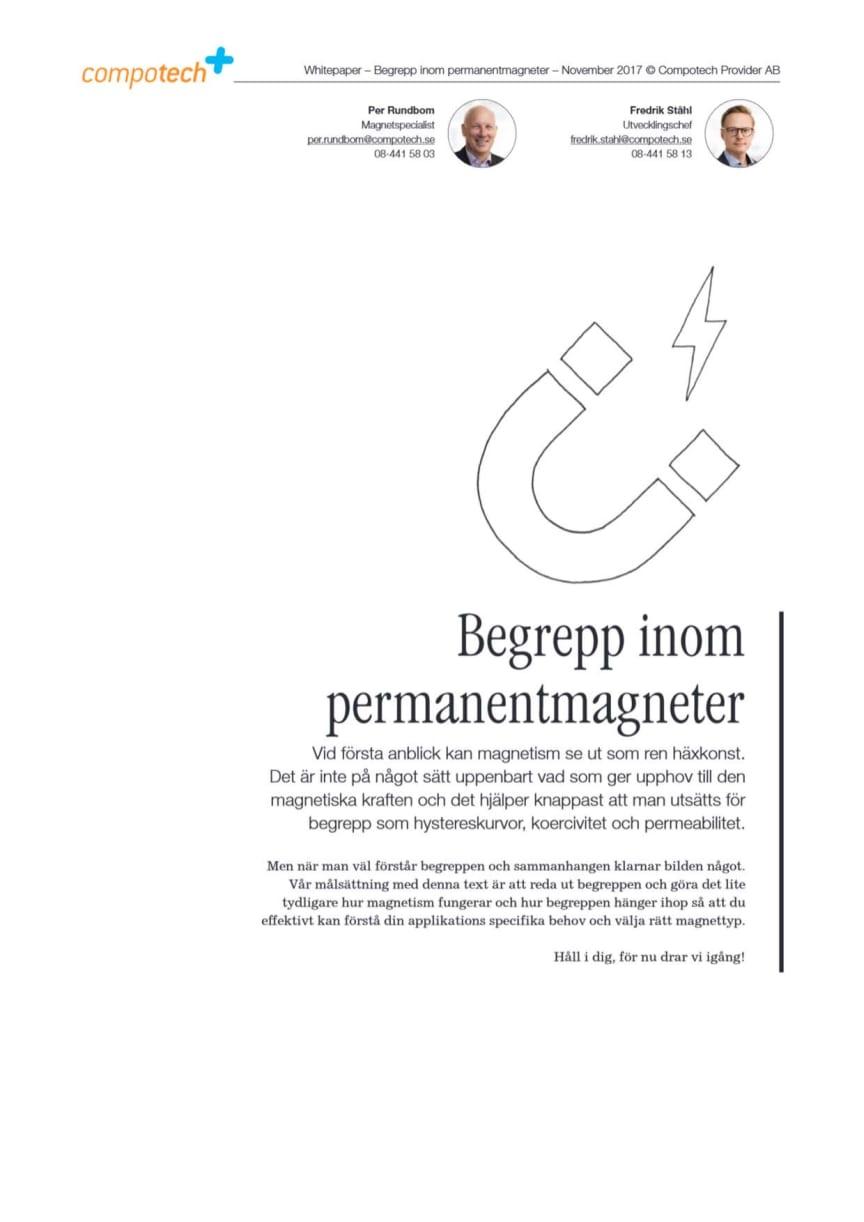 Whitepaper: Hur tolkar du ett datablad för en permanentmagnet? Vi reder ut begreppen!